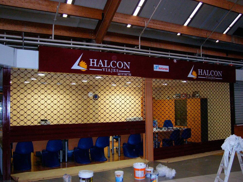 Trabajos realizados para la empresa de Viajes Halcon en varias de sus oficinas de la provincia de Valencia.