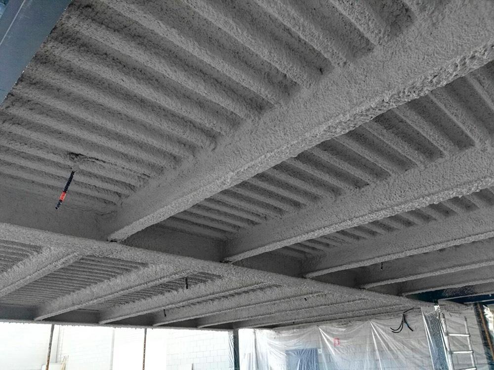 Ignifugación y esmalte de acabado sobre estructura metálica